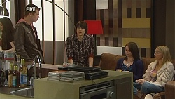 Mark Brennan, Declan Napier, Kate Ramsay, Donna Freedman in Neighbours Episode 6054