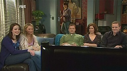 Kate Ramsay, Donna Freedman, Declan Napier, Michael Williams, Rebecca Napier, Paul Robinson in Neighbours Episode 6054