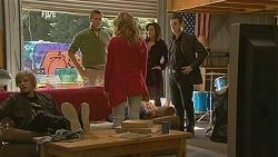 Andrew Robinson, Michael Williams, Natasha Williams, Rebecca Napier, Paul Robinson in Neighbours Episode 6054