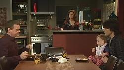 Paul Robinson, Rebecca Napier, India Napier, Declan Napier in Neighbours Episode 6055