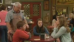 Lou Carpenter, Callum Jones, Sophie Ramsay, Sonya Mitchell in Neighbours Episode 6055