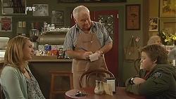 Sonya Mitchell, Lou Carpenter, Callum Jones in Neighbours Episode 6056