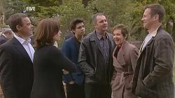 Paul Robinson, Rebecca Napier, Zeke Kinski, Karl Kennedy, Susan Kennedy, Michael Williams in Neighbours Episode 6059