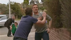 Karl Kennedy, Lyn Scully, Lucas Fitzgerald, Michael Williams in Neighbours Episode 6070