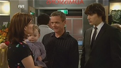 Rebecca Napier, India Napier, Paul Robinson, Declan Napier in Neighbours Episode 6074