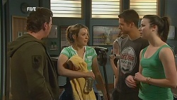 Lucas Fitzgerald, Sonya Mitchell, Mark Brennan, Kate Ramsay in Neighbours Episode 6075