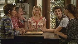 Susan Kennedy, Karl Kennedy, Donna Freedman, Zeke Kinski, Jade Mitchell in Neighbours Episode 6075