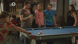 Callum Jones, Lucas Fitzgerald, Sonya Mitchell, Toadie Rebecchi, Jade Mitchell in Neighbours Episode 6076