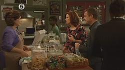 Lyn Scully, Rebecca Napier, Paul Robinson, Declan Napier in Neighbours Episode 6078