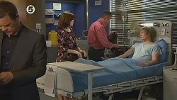 Paul Robinson, Rebecca Napier, Karl Kennedy, Andrew Robinson in Neighbours Episode 6078