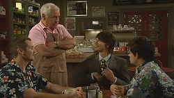 Toadie Rebecchi, Lou Carpenter, Declan Napier, Zeke Kinski in Neighbours Episode 6080