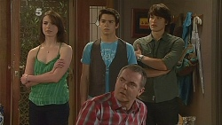Kate Ramsay, Zeke Kinski, Karl Kennedy, Declan Napier in Neighbours Episode 6083