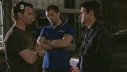 Lucas Fitzgerald, Vince Villante, Garland Cole in Neighbours Episode 6085