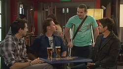 Billy Forman, Lucas Fitzgerald, Toadie Rebecchi, Garland Cole in Neighbours Episode 6086
