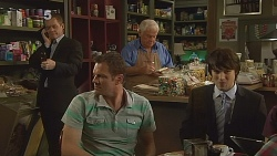 Paul Robinson, Michael Williams, Lou Carpenter, Declan Napier in Neighbours Episode 6088