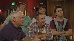 Lou Carpenter, Michael Williams, Karl Kennedy, Declan Napier, Zeke Kinski in Neighbours Episode 6088