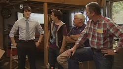 Declan Napier, Zeke Kinski, Lou Carpenter, Karl Kennedy in Neighbours Episode 6088