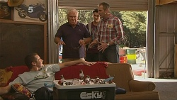 Toadie Rebecchi, Lou Carpenter, Zeke Kinski, Karl Kennedy in Neighbours Episode 6088
