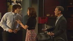 Declan Napier, Rebecca Napier, Paul Robinson in Neighbours Episode 6089