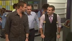 Michael Williams, Karl Kennedy, Toadie Rebecchi in Neighbours Episode 6090