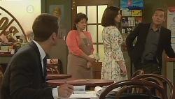 Mark Brennan, Lyn Scully, Rebecca Napier, Paul Robinson in Neighbours Episode 6090