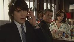 Declan Napier, Paul Robinson, Rebecca Napier in Neighbours Episode 6090
