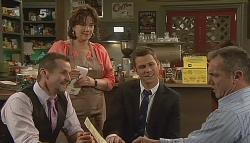 Toadie Rebecchi, Lyn Scully, Mark Brennan, Karl Kennedy in Neighbours Episode 6090