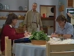 Nikki Dennison, Jim Robinson, Mike Young in Neighbours Episode 0266