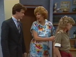Paul Robinson, Madge Mitchell, Charlene Mitchell in Neighbours Episode 0266