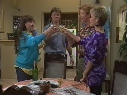 Nikki Dennison, Mike Young, Clive Gibbons, Daphne Lawrence in Neighbours Episode 0266