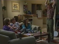 Daphne Lawrence, Mike Young, Nikki Dennison, Clive Gibbons in Neighbours Episode 0266
