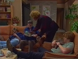 Shane Ramsay, Tom Ramsay, Madge Bishop, Clive Gibbons in Neighbours Episode 0294