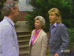 Jim Robinson, Helen Daniels, Scott Robinson in Neighbours Episode 0443