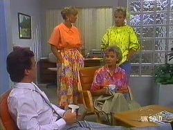 Paul Robinson, Jane Harris, Helen Daniels, Daphne Clarke in Neighbours Episode 0443