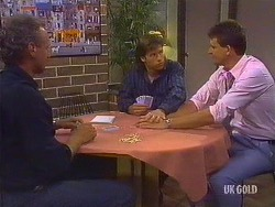 Jim Robinson, Mike Young, Des Clarke in Neighbours Episode 0444