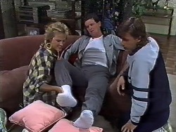Daphne Clarke, Des Clarke, Mike Young in Neighbours Episode 0446