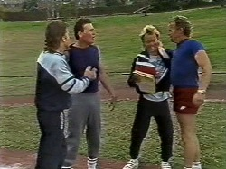 Mike Young, Des Clarke, Scott Robinson, Jim Robinson in Neighbours Episode 0446