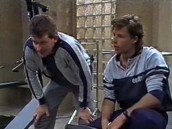 Des Clarke, Mike Young in Neighbours Episode 0446
