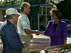 Rob Lewis, Jim Robinson, Gail Robinson in Neighbours Episode 0447