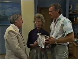 Rob Lewis, Helen Daniels, Jim Robinson in Neighbours Episode 0448