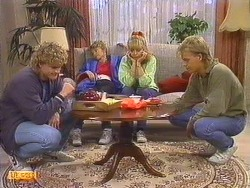 Henry Mitchell, Charlene Mitchell, Jane Harris, Scott Robinson in Neighbours Episode 0501