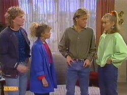 Henry Mitchell, Charlene Mitchell, Scott Robinson, Jane Harris in Neighbours Episode 0501