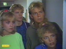 Jane Harris, Henry Mitchell, Scott Robinson, Charlene Mitchell in Neighbours Episode 0501