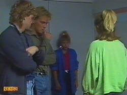 Henry Mitchell, Scott Robinson, Charlene Mitchell, Jane Harris in Neighbours Episode 0501
