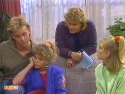 Scott Robinson, Charlene Mitchell, Henry Mitchell, Jane Harris  in Neighbours Episode 0502
