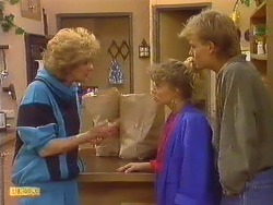 Madge Mitchell, Charlene Mitchell, Scott Robinson  in Neighbours Episode 0502