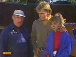 Rob Lewis, Scott Robinson, Charlene Mitchell  in Neighbours Episode 0502