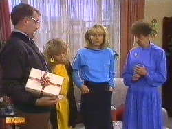 Harold Bishop, Charlene Mitchell, Jane Harris, Nell Mangel  in Neighbours Episode 0502