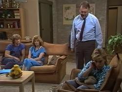 Henry Ramsay, Madge Bishop, Harold Bishop, Scott Robinson in Neighbours Episode 0738