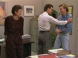 Gail Robinson, Paul Robinson, Scott Robinson in Neighbours Episode 0742